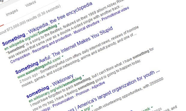 Click percentages within search results - Click percentages within search results