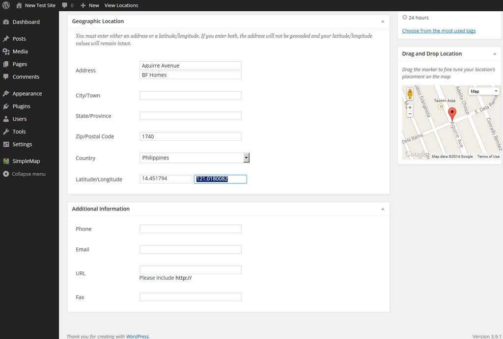 SimpleMap Add Store - Store Locator Plugins for WordPress