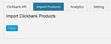 01 fetch products list - Import Clickbank Products