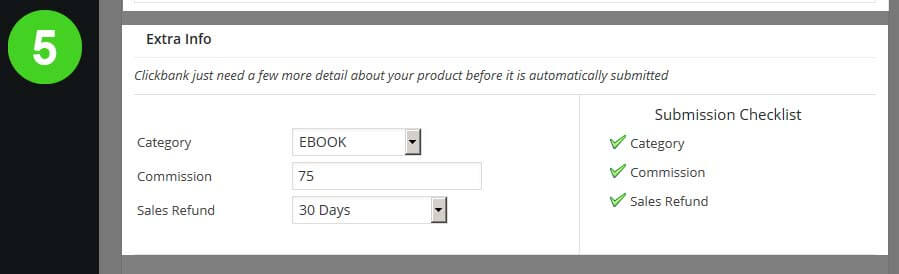 5 Extra Options - Submit Products to Clickbank